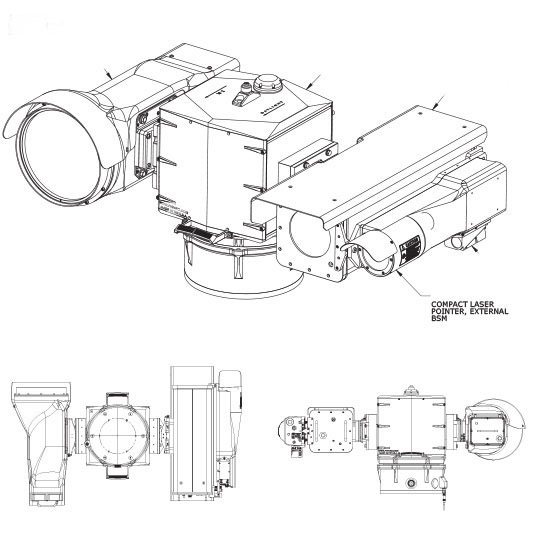 long range PTZ thermal FLIR camera