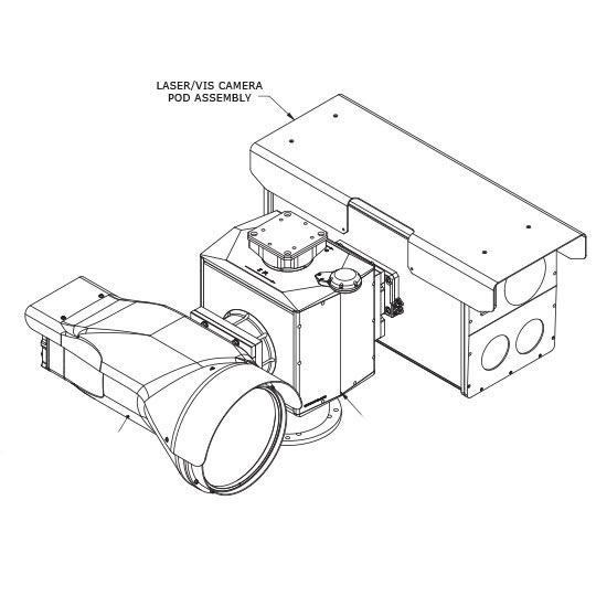 Long range Pan Tilt Zoom thermal PTZ FLIR camera