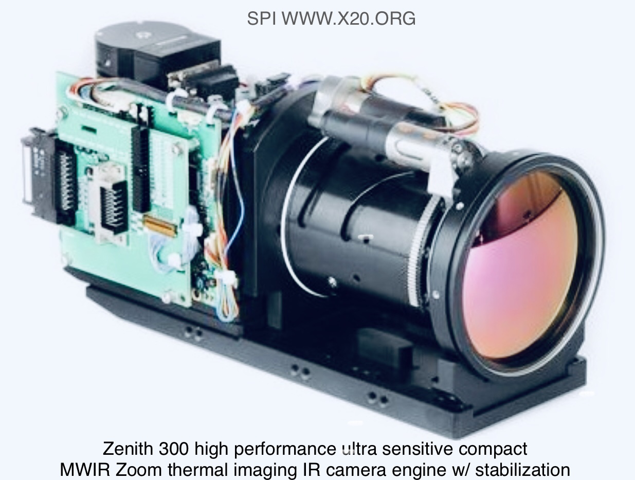 long Range MWIR Thermal imaging FLIR camera core integration